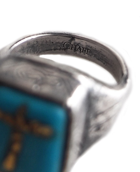 CHAFF DESIGN〔チャフ・デザイン〕Turquoise On Gold leaf Ring