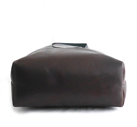 HTC Tote Bag Bi-color Leather #7 / Black&Brown