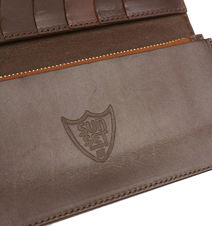 HTC SUNSET Long Wallet Flower Leather #4 TQS B / Moca Brown