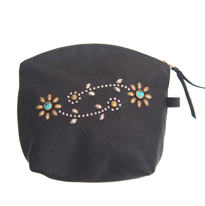 HTC SUNSET Pouch Bag Flower #1 TQS MIX / Black