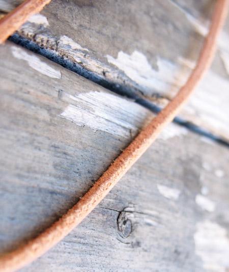 Y.GLAUCA(ワイグラウカ) ネックレス ターコイズシルバープレート&レザーコード/キャメル�