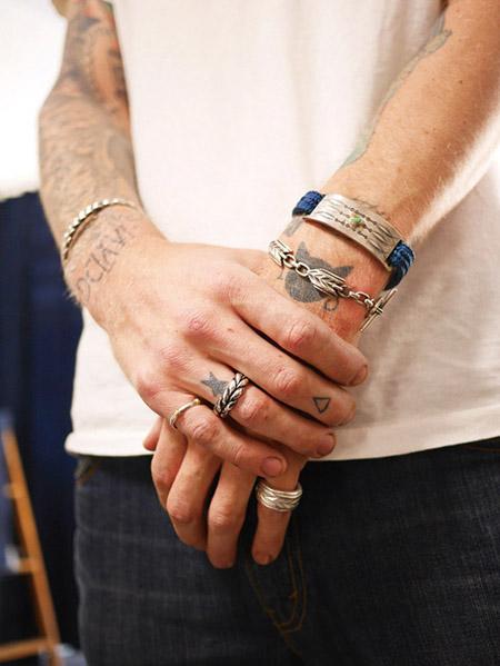 CHAFF DESIGN〔チャフ・デザイン〕Silver&18k 3line Ring