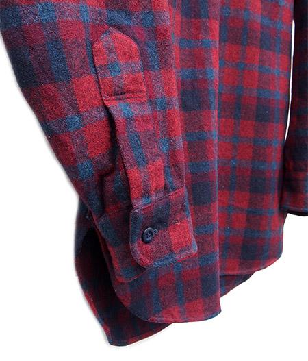 "1970s Vintage ""PENDLETON"" L/S Virgin Wool Check Shirts / RED"