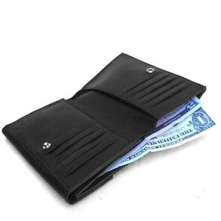 HTC Short Wallet Flower Suede Mix TQS N / Black