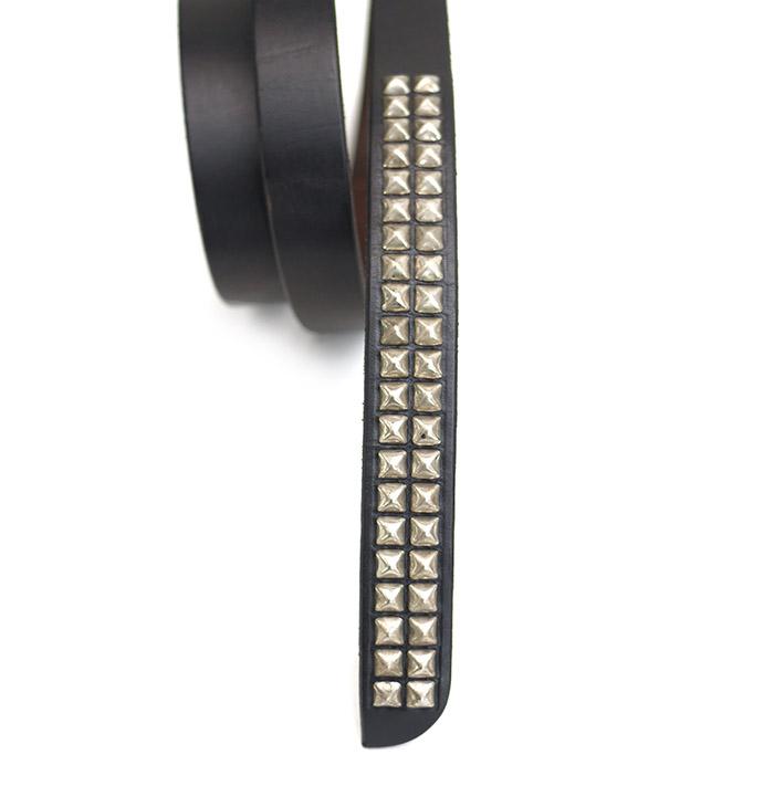 HTC SUNSET Belt  Narrow Pyramid Studs N / Black
