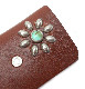 HTC SUNSET Key Case Flower Leather #1 TQS N / Brown