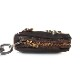 HTC SUNSET Zipper Key Case Flower #4 TQS N / DK Brown