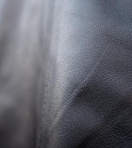 CHANDA〔チャンダ〕シープスキン ノッチドカラー シングルライダースジャケット