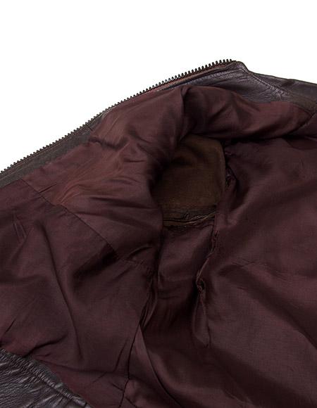 1970s Vintage French Single Leather Jacket