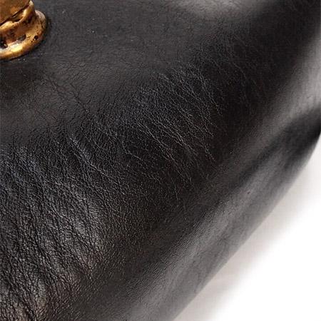 "PANTY Original Design ""OLD COACH"" Vintage Remake Studs Leather Pochette / No.12"