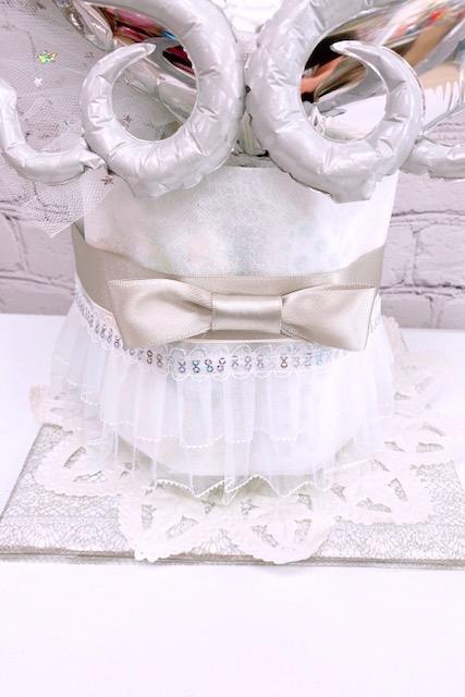 おむつケーキ☆エンジェルホワイト