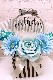 ハーフバースデー(6か月祝)☆白い羽根入りバルーン