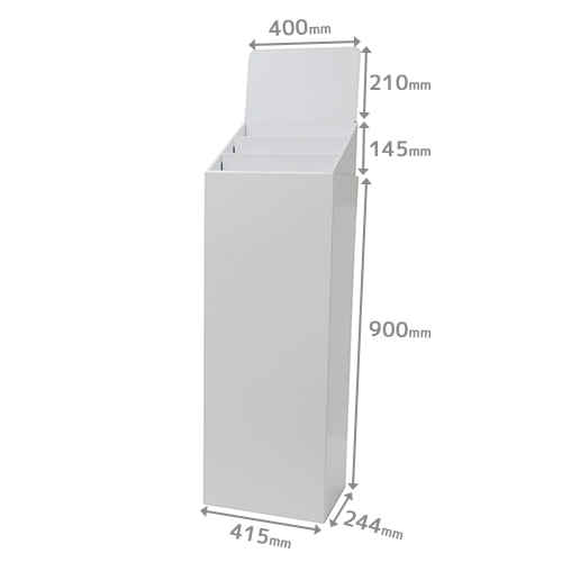 フロア什器ひな壇3段(W415*D244*H1255)
