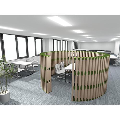 オフィスパーテーション 全円3段タイプ