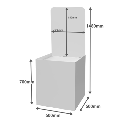 背ボード付き平置台 (W600*D600*H1480)