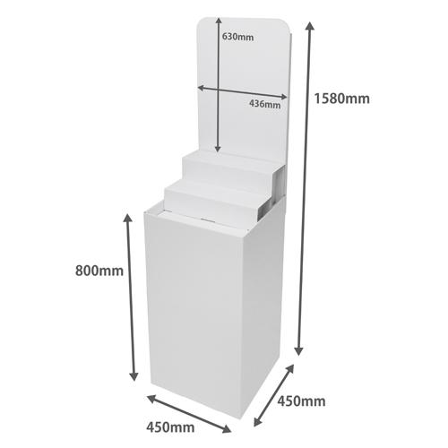 背ボード/ひな壇付き平置台(W450*D450*H1580)