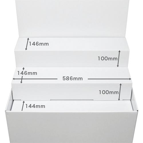 背ボード/ひな壇付き平置台(W600*D450*H1480)
