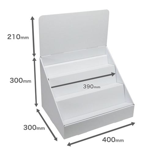 卓上什器斜めひな壇3段(W400*D300*H510)