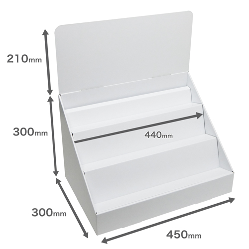 卓上什器斜めひな壇3段(W450*D300*H510)