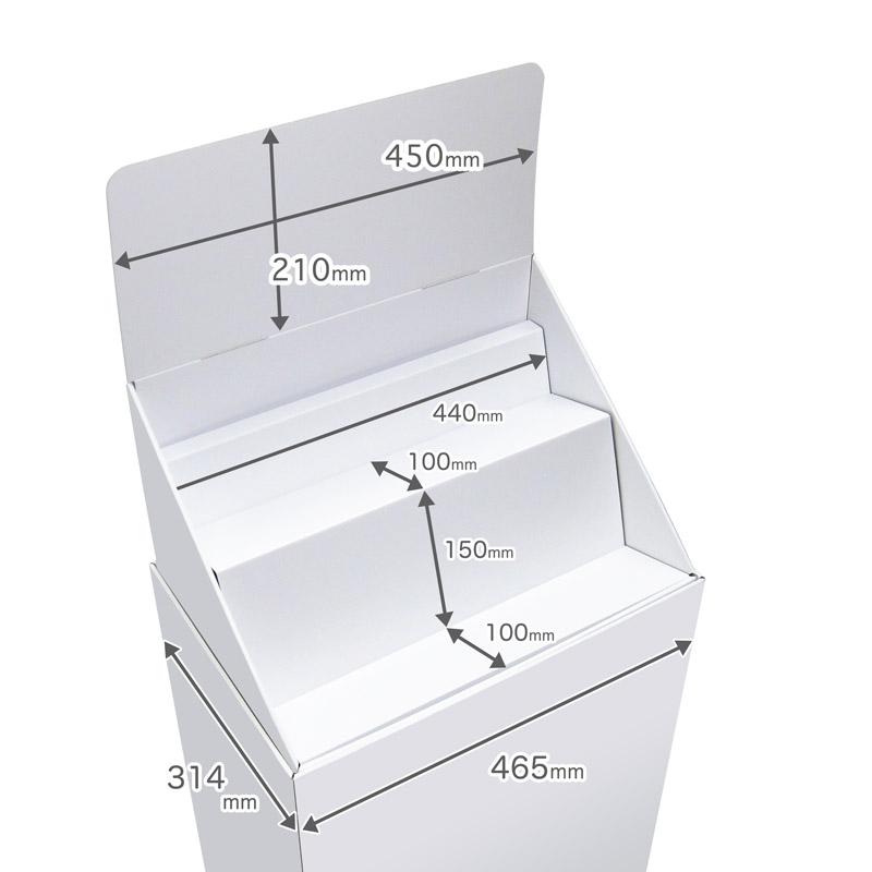 フロア什器斜めひな壇2段(W465*D314*H1335)