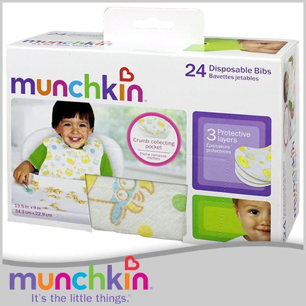 マンチキン 使い捨てエプロン ビブ 24枚入り お食事用 Munchkin 41501