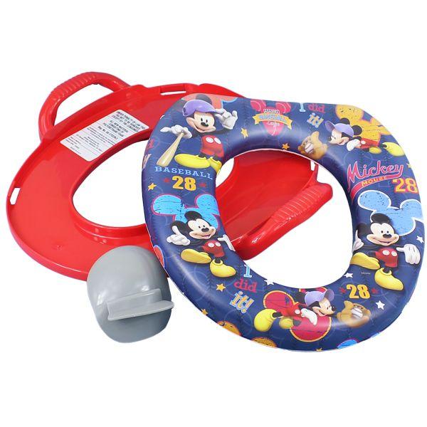 ディズニー ミッキーマウス ソフト補助便座 男の子 便座 携帯 キャラクターポッティシート おまる