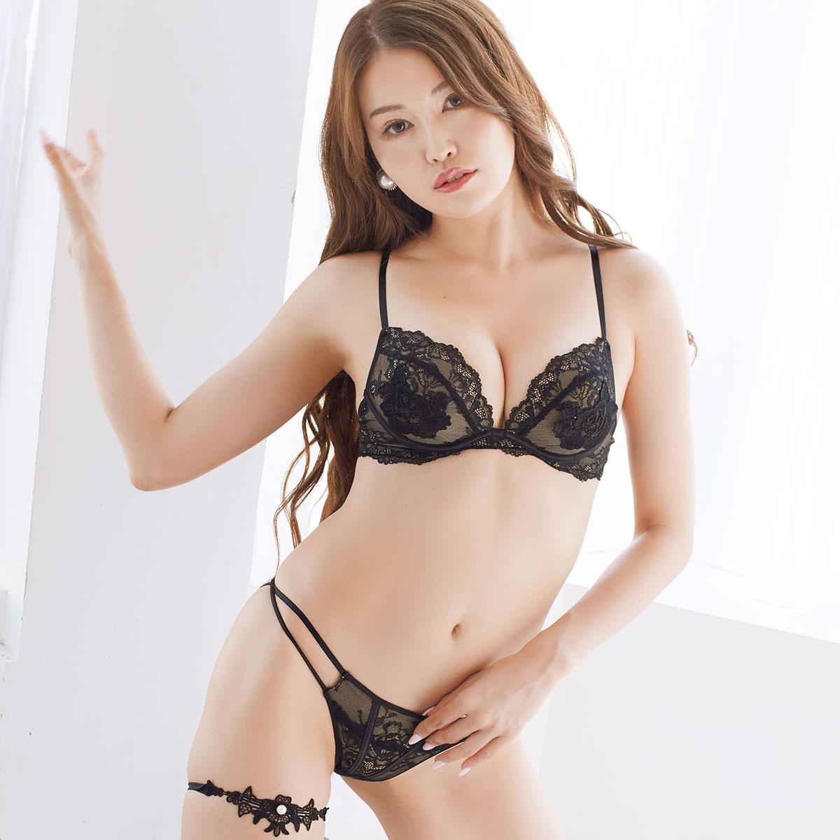 セクシーヴェールブラ&ショーツ、Tバック(Sexy Veil Bra&Shorts、T-back)