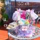 1段 おむつケーキ女の子 フリルプリンセス リトルシスター