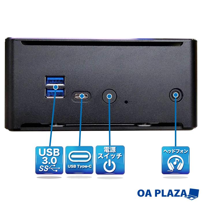 【第10世代Corei9搭載】ミニパソコン 新品 ミニデスクトップPC リビングPC C9-10880H Corei9 10880H 2.4GHz 8コア 16スレッド メモリ8GB 新品SSD180GB M.2 2280 SATA3.0 4K出力対応 無線LAN付き Bluetooth Windows10Pro