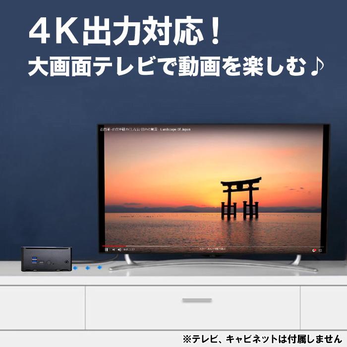 【第8世代Corei9搭載】ミニパソコン 新品 ミニデスクトップPC リビングPC Corei9 8950HK 2.9GHz 6コア 12スレッド メモリ8GB 新品SSD128GB M.2 2280 SATA3.0 4K出力対応 無線LAN付き Bluetooth Windows10Pro