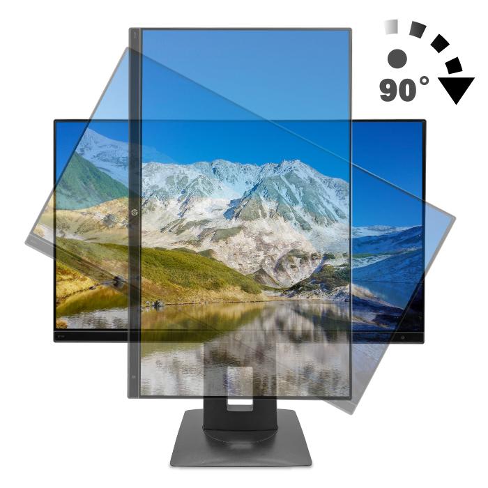 HP Z23n プロフェッショナル液晶モニター 23インチワイド ブラック 1920×1080 (フルHD) ノングレア 非光沢 IPSパネル 白色LED バックライト USB2.0 ピボット機能 縦置き可 HDMI VGA ディスプレイポート