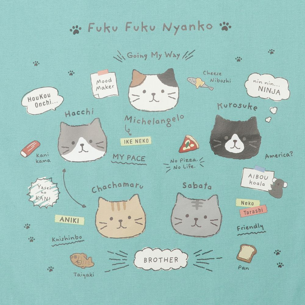 FukuFukuNyanko ご近所トートバッグ