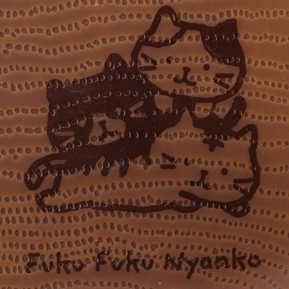 FukuFukuNyanko ウッド調プラスクエアワンプレート(Lサイズ)