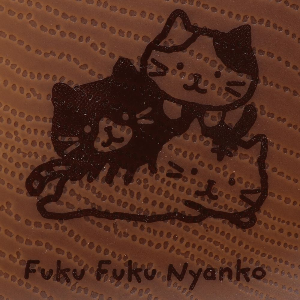 FukuFukuNyanko ウッド調プラスクエアワンプレート