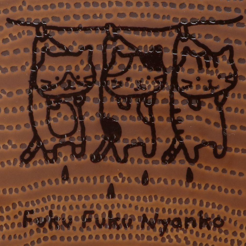 FukuFukuNyanko ウッド調プララウンドプレート