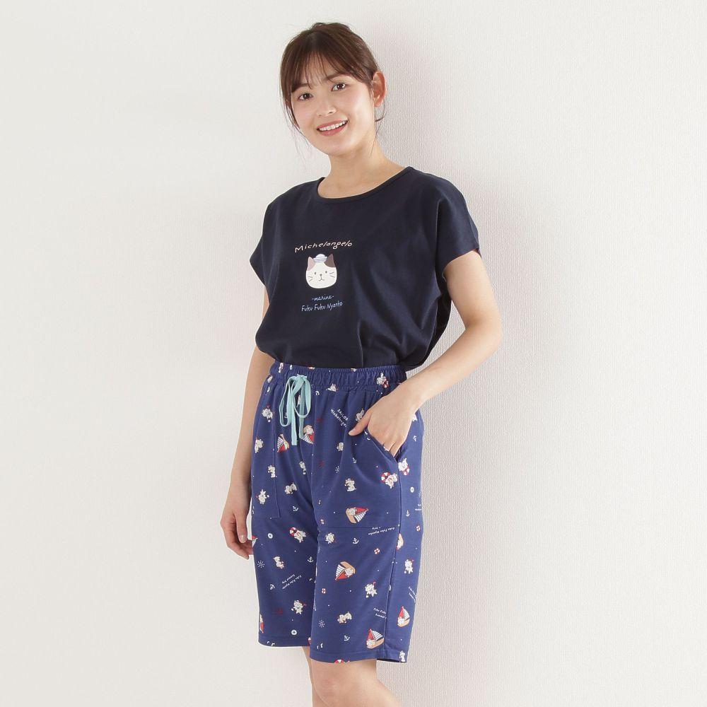 FukuFukuNyanko 涼感5分パンツ
