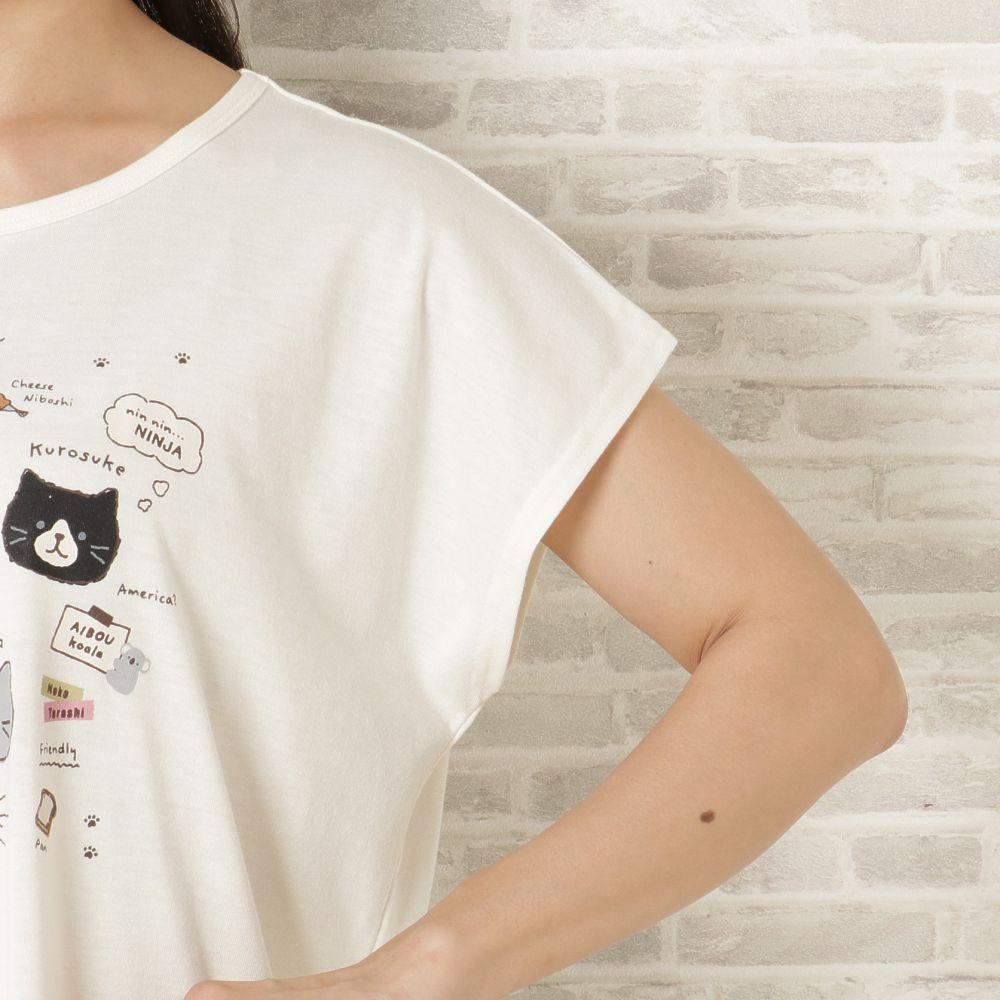 FukuFukuNyanko ボックスTシャツ