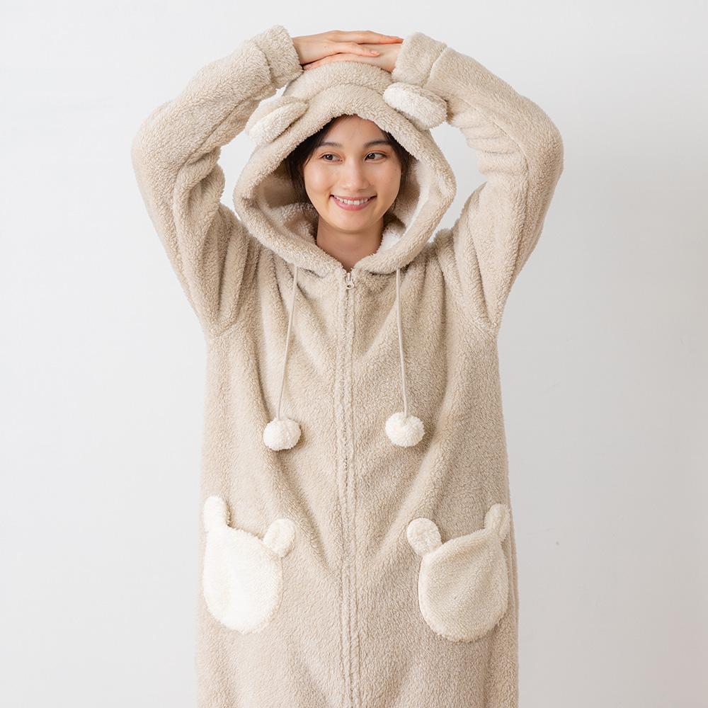 HOMY ANIMALS 着ぐるみパジャマ(クマ)