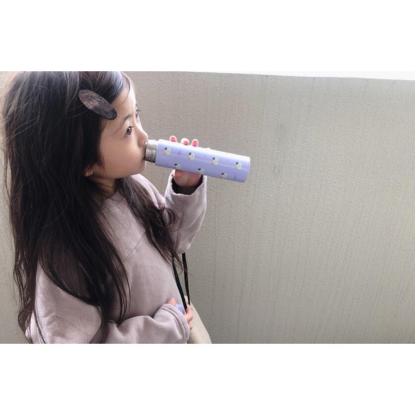 FukuFukuNyanko プリントスリムボトル