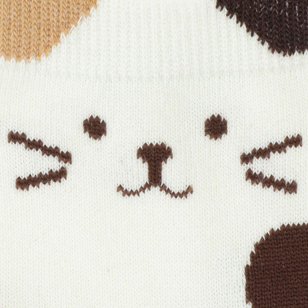 FukuFukuNyanko にゃん耳ロークルーソックス【3足税込1100円】