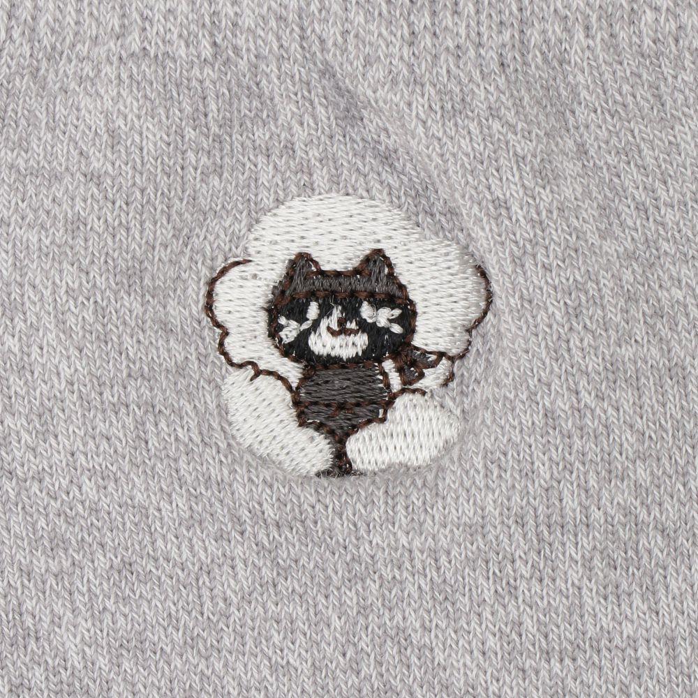 FukuFukuNyanko 刺繍入り高機能クルーソックス【3足税込1100円】