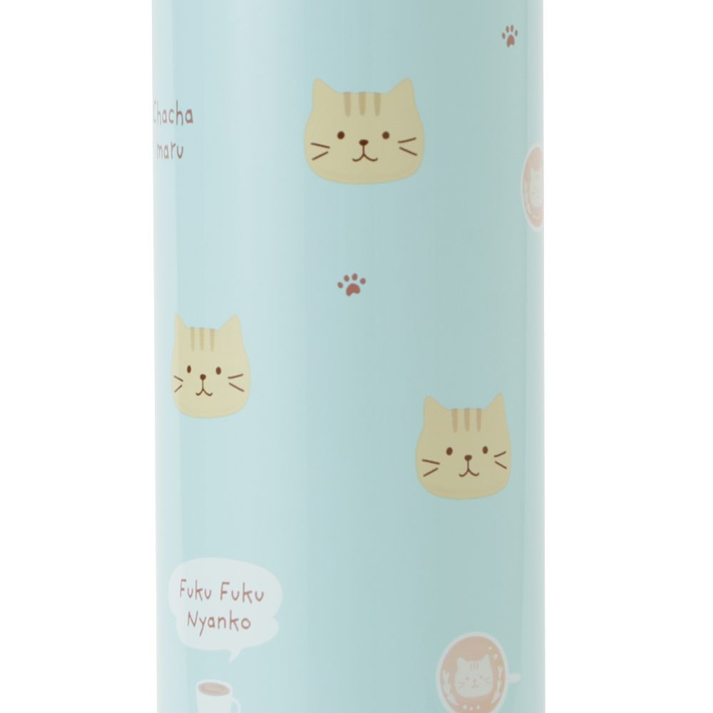 FukuFukuNyanko フェイスワンタッチステンレスボトル(500ml)
