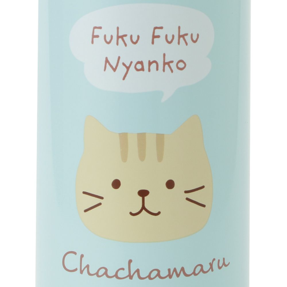 FukuFukuNyanko フェイスワンタッチステンレスボトル(350ml)