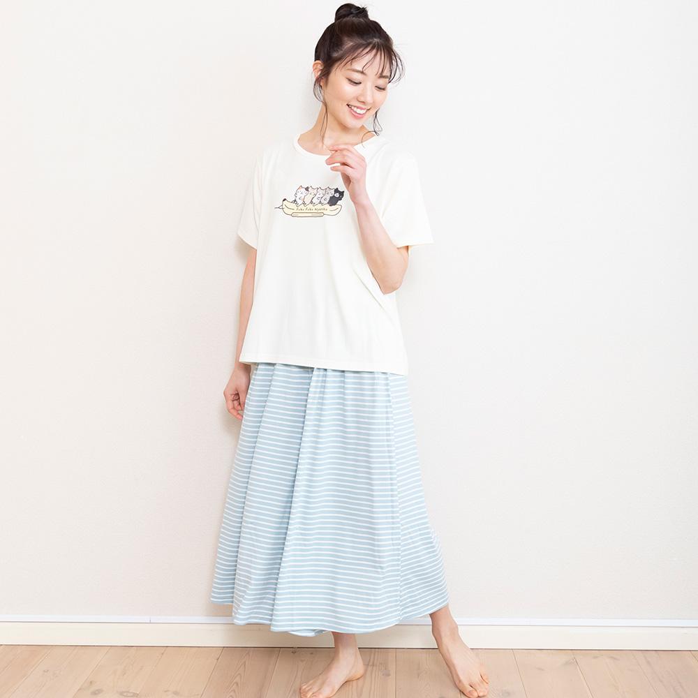 FukuFukuNyanko Tシャツ&ガウチョパンツ