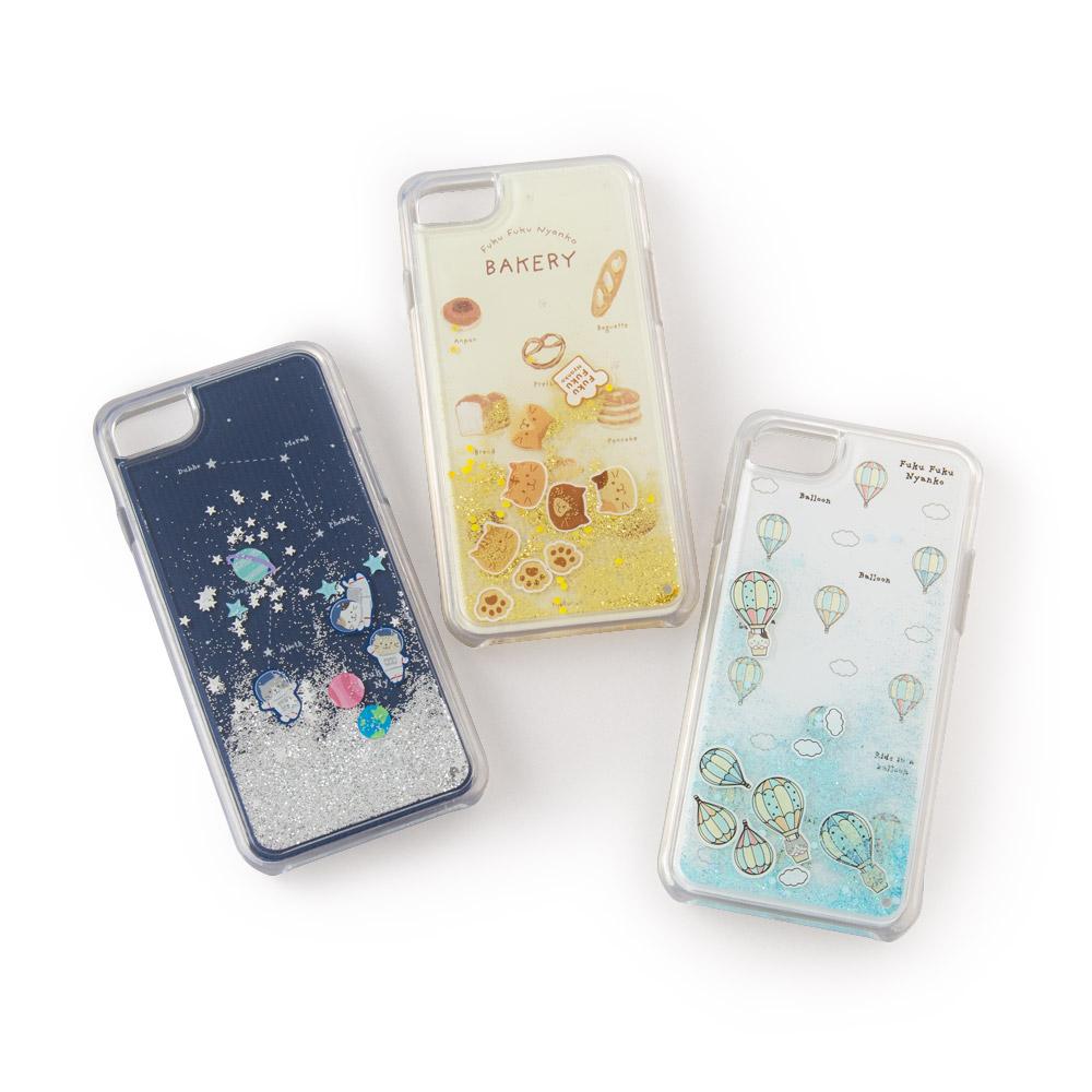FukuFukuNyankoラメ携帯ケース