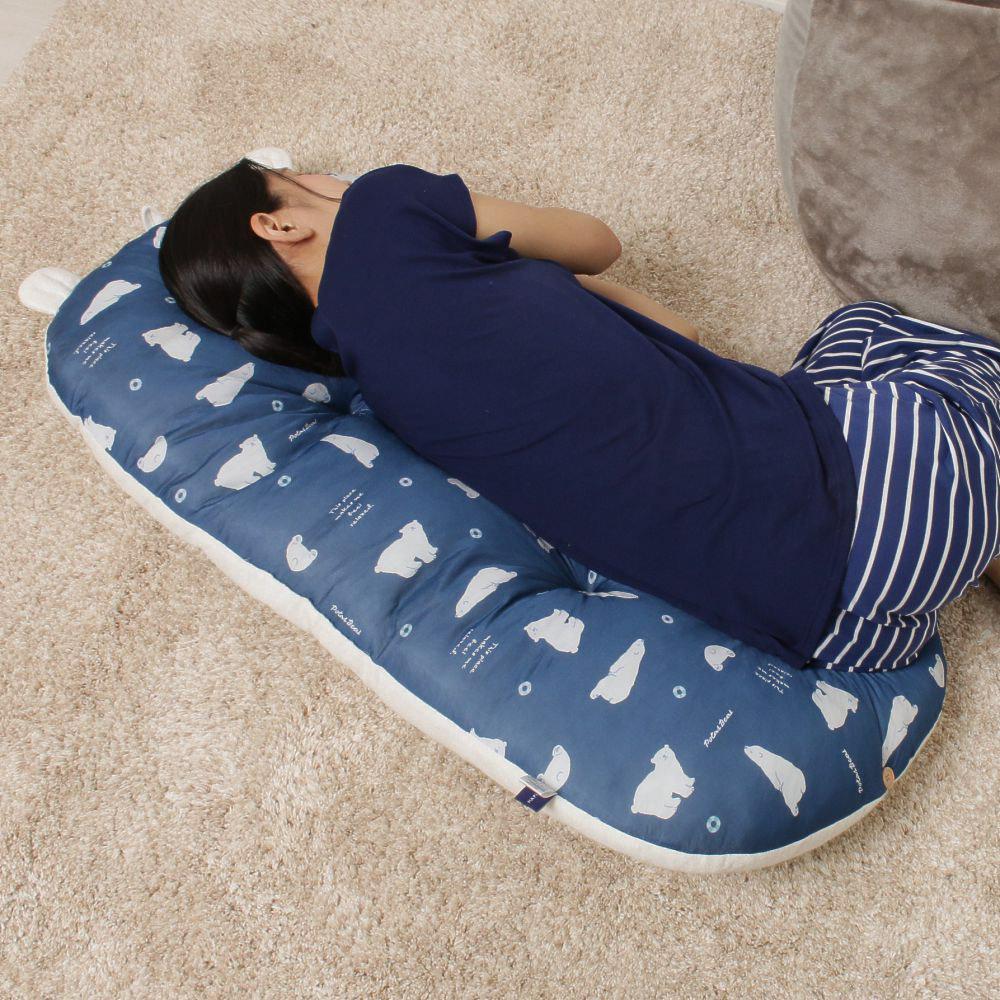 接触冷感シロクマごろ寝クッション