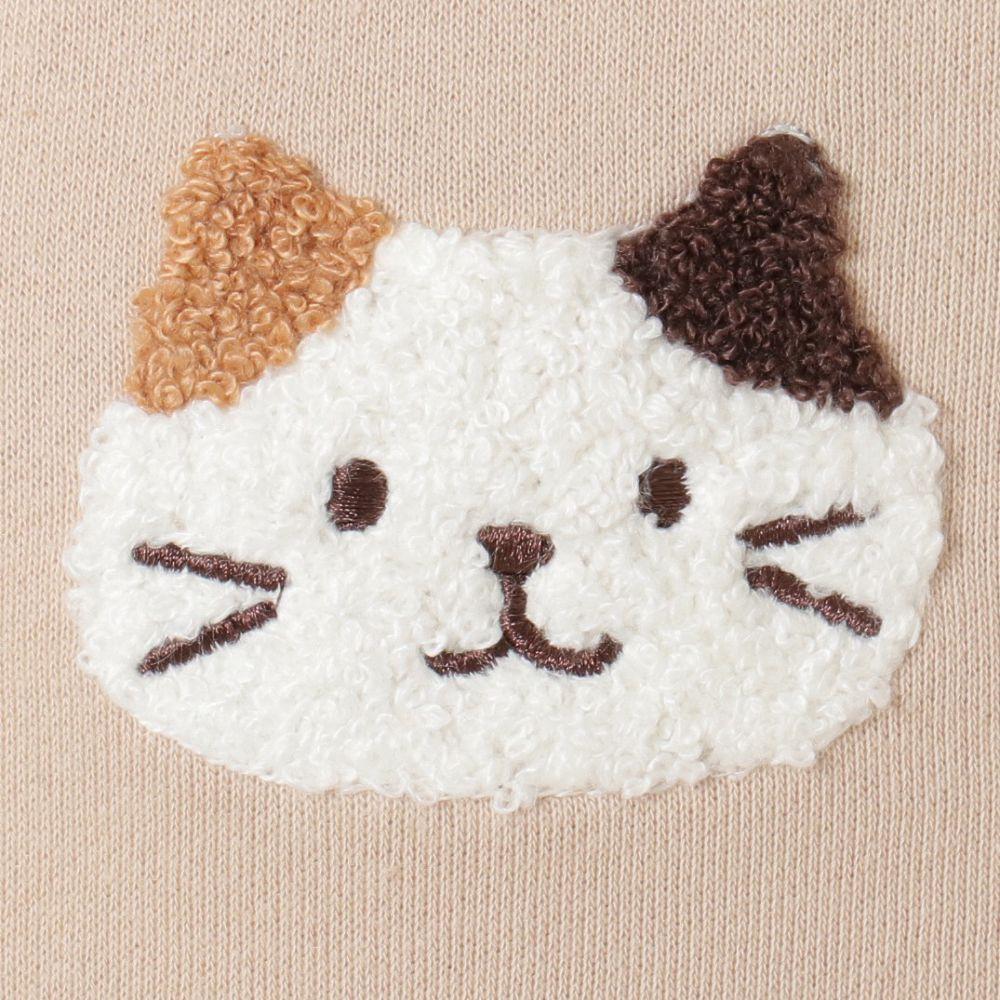 FukuFukuNyanko サガラ刺繍耳付きパーカー