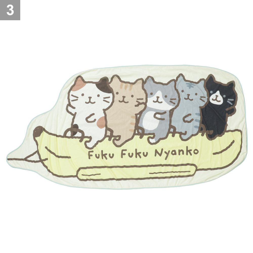 FukuFukuNyanko 接触冷感ダイカットケット