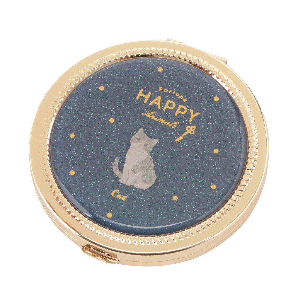 HAPPY Animals コンパクトミラー(ドット柄)