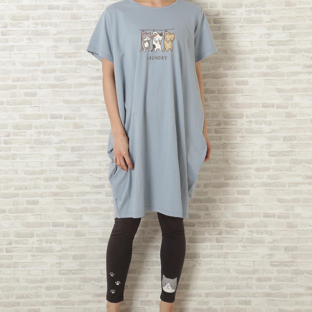 FukuFukuNyanko コクーンTシャツ